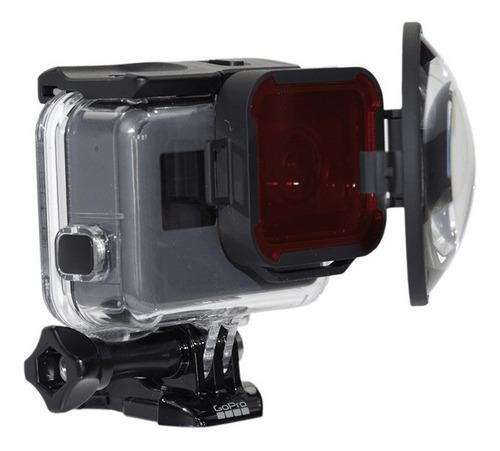 lente macro + filtro rojo para  gopro hero 5 y 6 -h5b-swchss