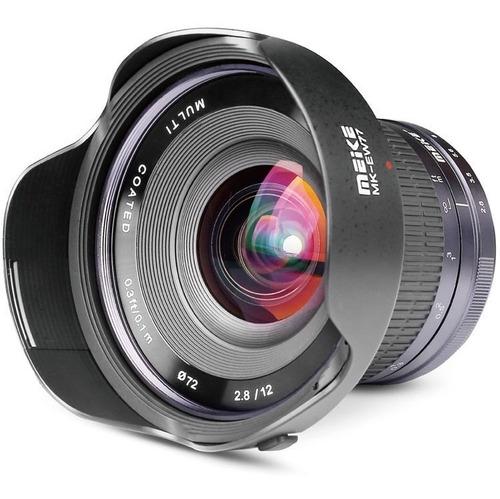 lente meike 12mm f/2.8 para sony e-mount aps-c foco manual
