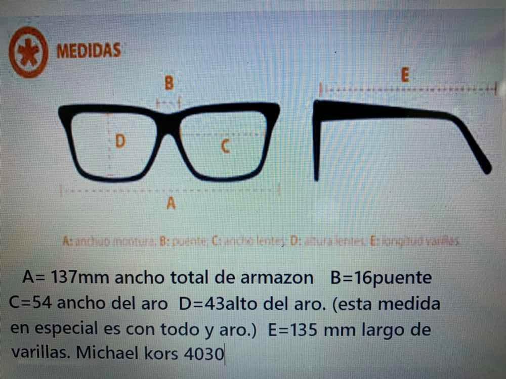 a58a83c16 Lente Michael Kors Oftalmico 4030 3106 - $ 1,970.00 en Mercado Libre