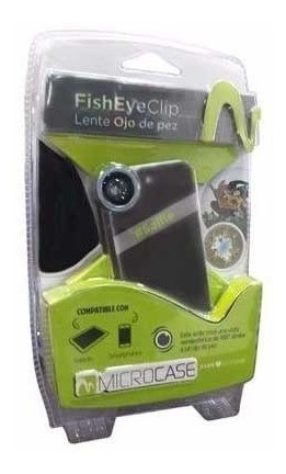 lente microcase fisheyeclip ojo de pez para celu o tablet