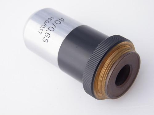 lente microscópio rms carl zeiss 40/0.65  160/0.17