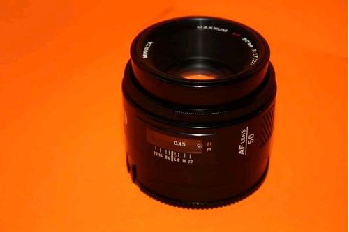 lente minolta 50 mm
