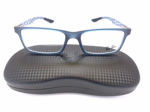 lente montura ray-ban rb9801 5262 carbon fibre blue/black