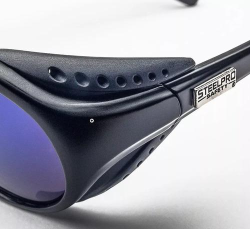lente mountain steelpro azul y gris uv protección