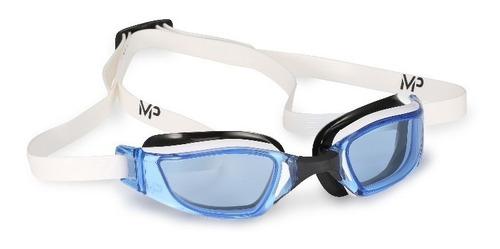 lente natacion aqua sphere exceed azul adulto blanco/negro