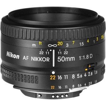 lente nikkor 50mm f/1.8d para cámaras nikon negro
