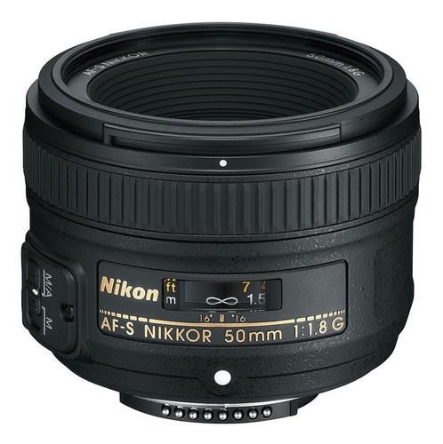 lente nikkor 50mm f/1.8g af con parasol para cámaras nikon