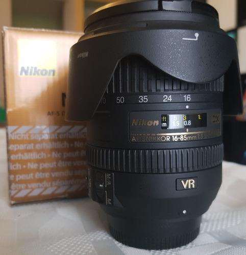lente nikkor nikon 16-85mm dx 3.5-5.6 - como nuevo
