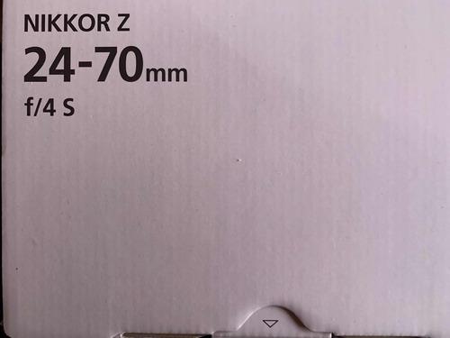 lente nikon 24-70 f4 full frame mirrorless entrega inmediata montura z - z6 z7
