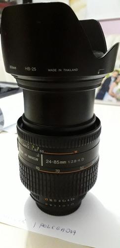 lente nikon 24-85 2.8.4 full frame novinha