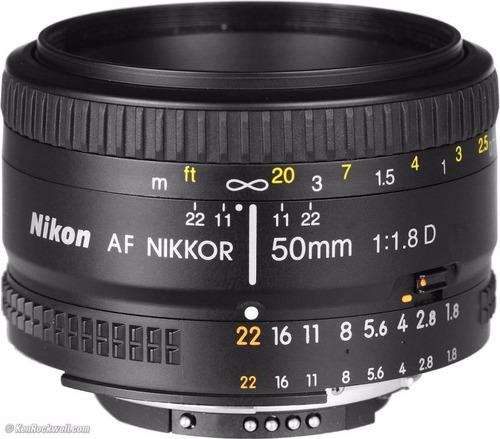 lente nikon 50 mm 1.8d para d5200 d5300 d5500 d7000 d7200