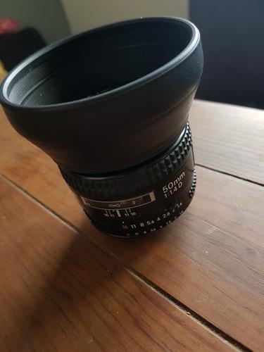 lente nikon 50mm 1.4d