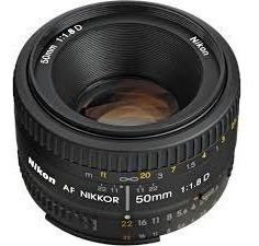 lente nikon 50mm af nikkor f/ 1.8 d