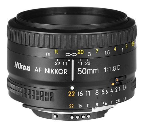 lente nikon 50mm f/ 1.8d