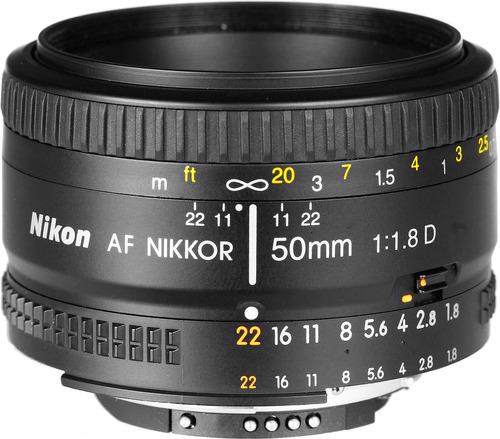 lente nikon 50mm f/1.8d af nikkor