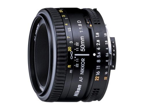 lente nikon 50mm f/1.8d af nikkor lens.