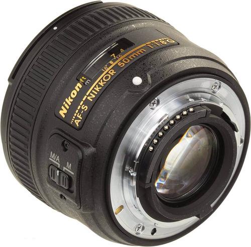 lente nikon 50mm f/1.8g af-s autofoco case parasol garantia