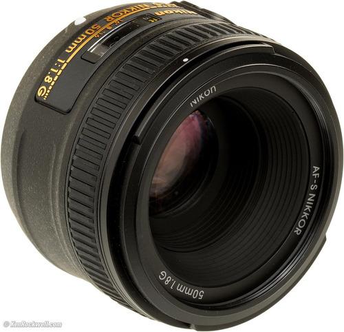 lente nikon 50mm f/1.8g af-s swm + filtro uv cambio por moto