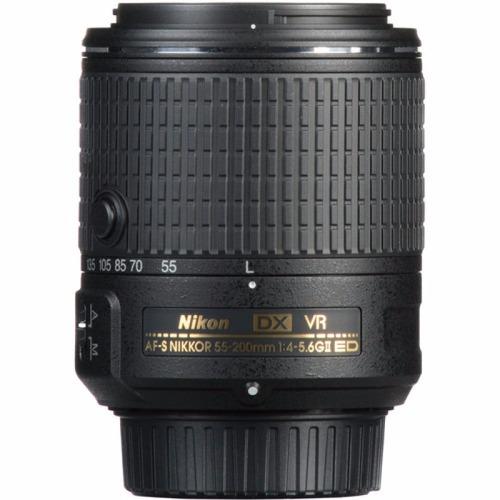 lente nikon 55-200mm f/4-5.6g vr ii af-s dx p. entrega