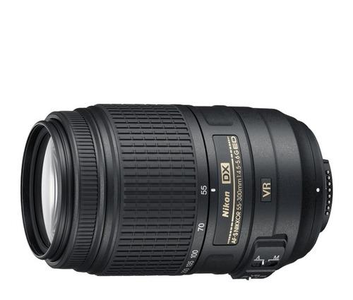 lente nikon 55-300mm f/4.5-5.6g ed vr estabilizador imagen