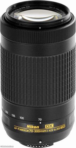 lente nikon 70-300 mm af-p  , 1 año garantía oficial!