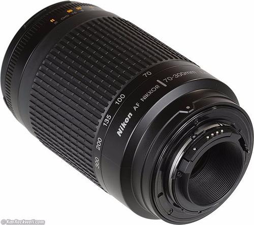 lente nikon 70-300 mm f:4-5,6g af zoom apertura manual d7100