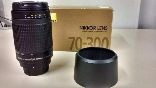 lente nikon 70-300mm af f/4-5.6g com parasol pronta entrega