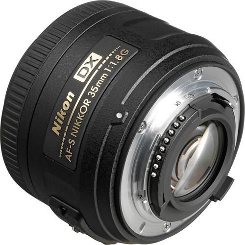 lente nikon af-s dx nikkor 35mm f/1.8g objetivo gran angular