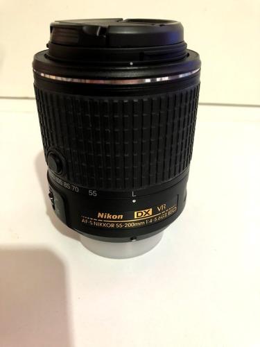 lente nikon af-s nikkor 55-200mm f/4-5.6g ed vr il