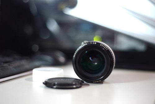 lente nikon ai 28mm f/2.8 manual perfeito estado