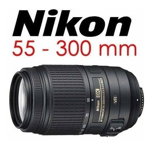 lente nikon dx-af vr 55-300mm 1:4.5-5.6 ged