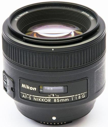 lente nikon nikkor af-s 85mm f/1.8g nova na caixa e garantia