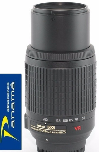 lente nikon  vr af zoom 55-200mm f/4-5.6g