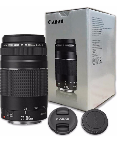 lente nova canon ef 75-300mm +nf-e garantia canon brasil