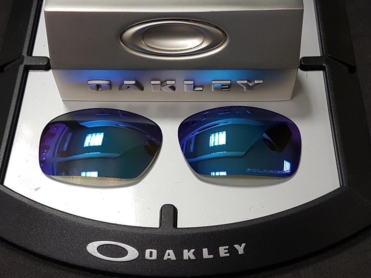 991aa7fd1bfac Lente Oakley Badman Saphire Iridium Polarized - R  180,00 em Mercado ...