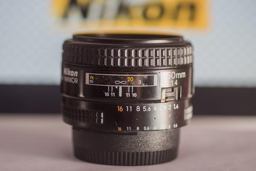 lente objetiva 50mm f1.4d exclente!