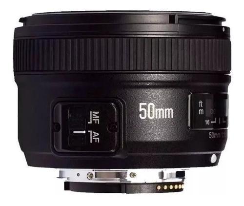lente objetiva yn 50mm f1.8 n af mf yongnuo nikon