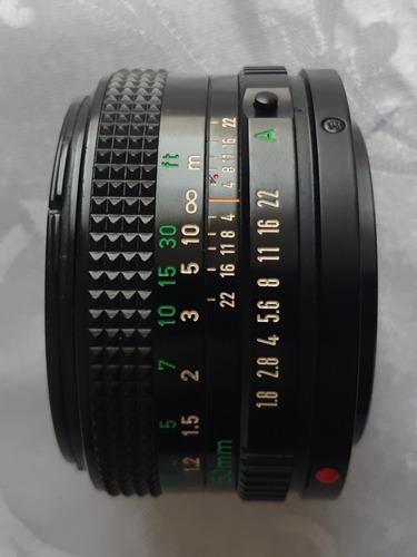 lente objetivo canon 50 mm f 1.8 fd analogico manual camara