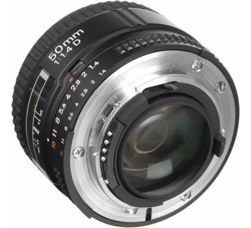 lente objetivo nikon 50mm af 1.4 d alta velocidad nuevos