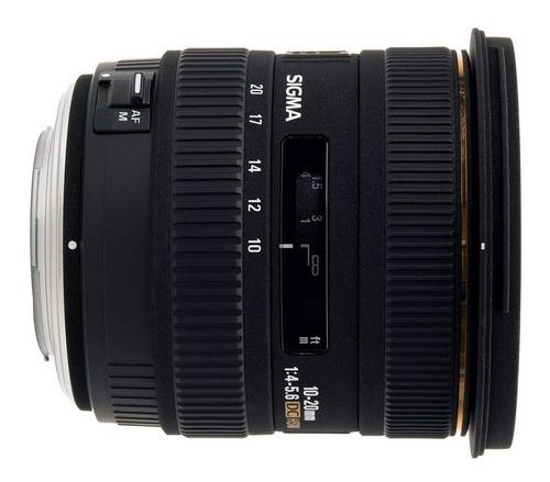 lente objetivo sigma 10 20mm f 3.5 canon gran angular reflex