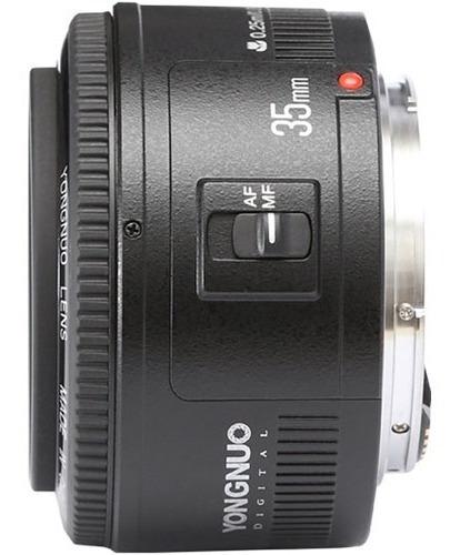 lente objetivo yongnuo 35mm f/2 canon dslr - inteldeals