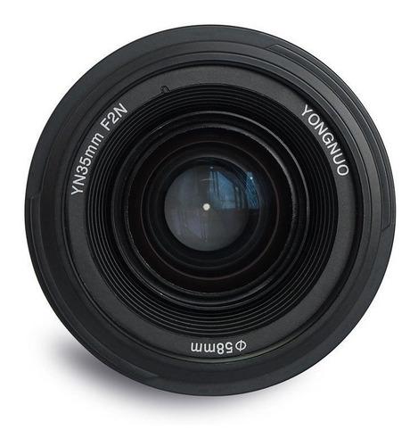 lente objetivo yongnuo yn35 35mm f2 para nikon