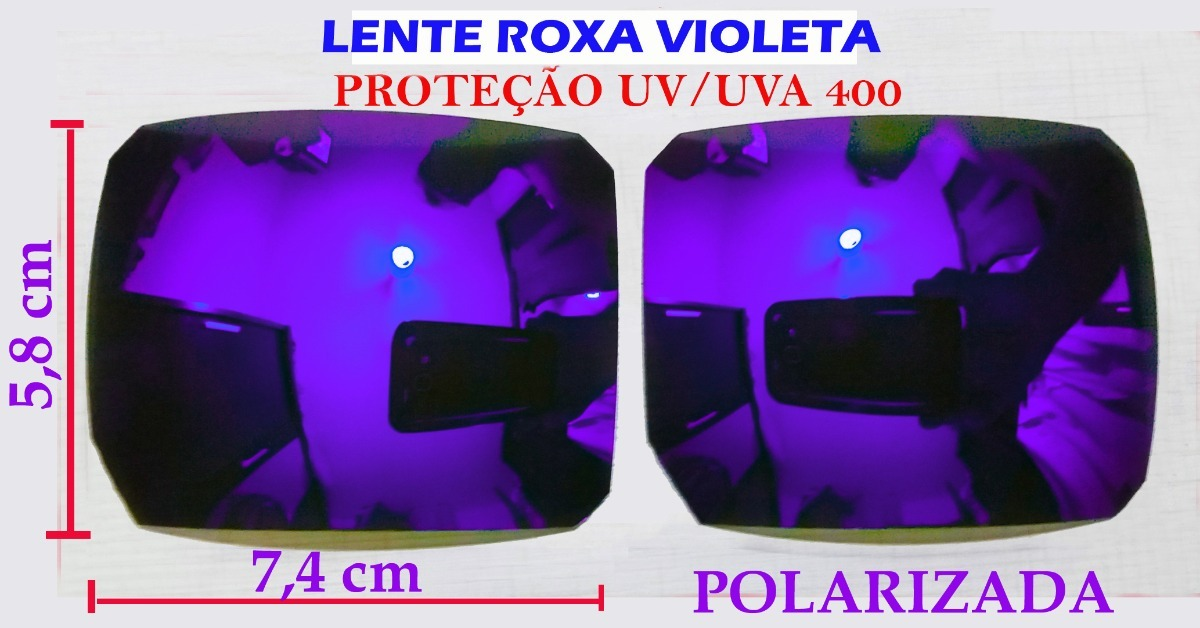 lente oculos de sol roxa violeta polarizada para reposição. Carregando zoom. 8fbe05dcb0