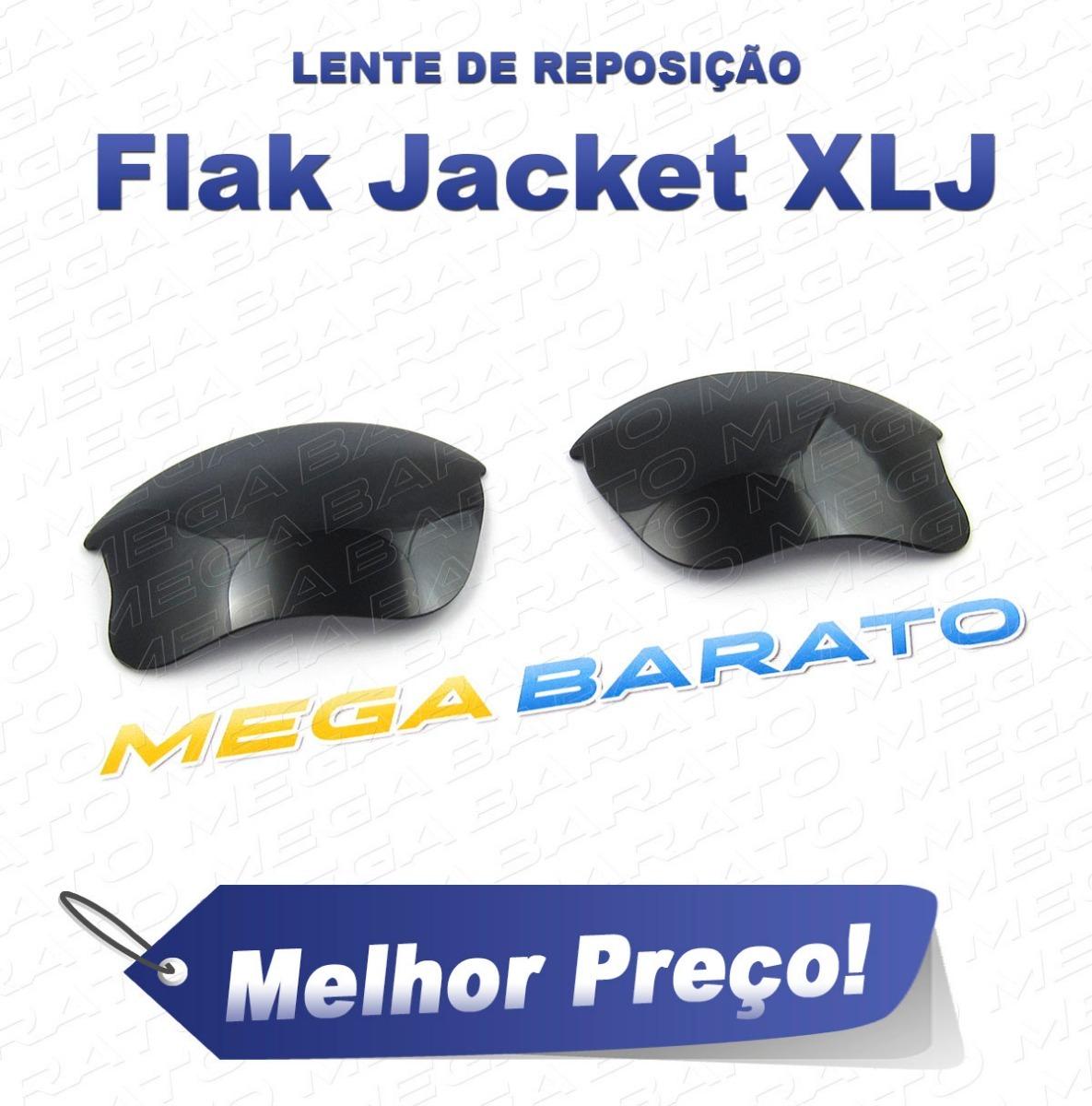 lente óculos flak jacket xlj preta stealth black polarizada. Carregando  zoom. a5cfa5699d