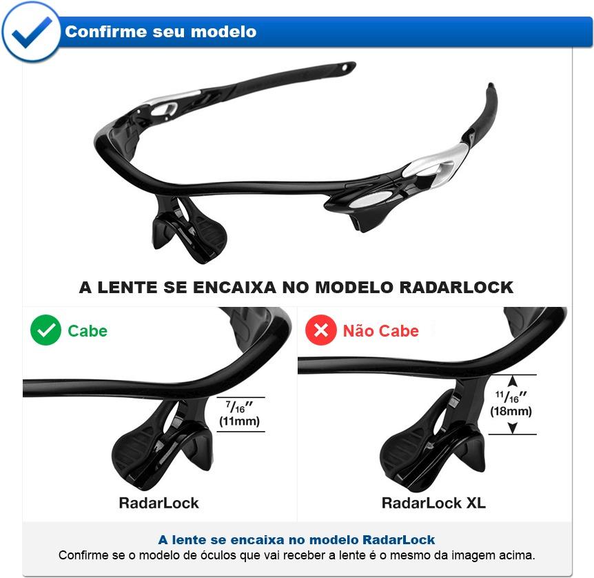 8158e859d7d4b Lente Óculos Radarlock Path Vented Polarizada - R  110,00 em Mercado ...