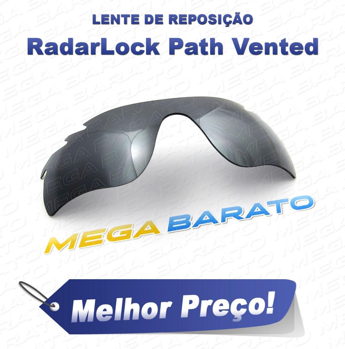 bd0f15bf1 Lente Óculos Radarlock Path Vented Stealth Black Polarizada - R$ 110 ...