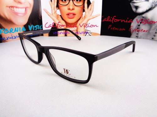 lente oftalmico   di caprio mod 149, negro con gris acero
