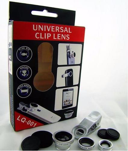 lente ojo de pez 3 en 1 universal fish eye macro wide