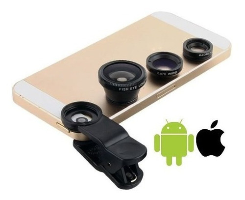 lente ojo de pez 3 en 1 universal samsung iphone monopod sel