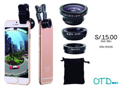 lente ojo de pez para smartphone